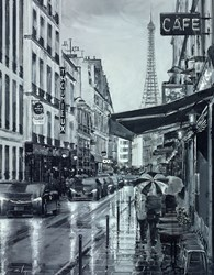Sous le Ciel de Paris by Ziv Cooper - Original Painting on Box Canvas sized 20x25 inches. Available from Whitewall Galleries